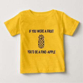 T-shirt Pour Bébé Si vous étiez un fineapple de fruit