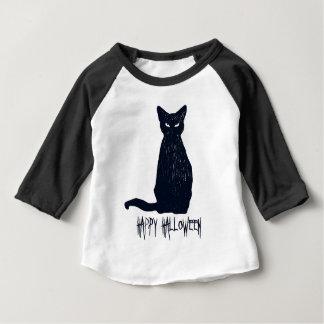 T-shirt Pour Bébé Silhouette de chat noir de Halloween