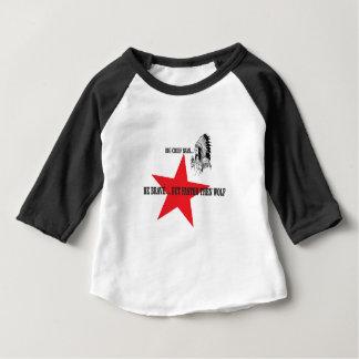 T-shirt Pour Bébé soyez puis loup courageux mais plus rapide