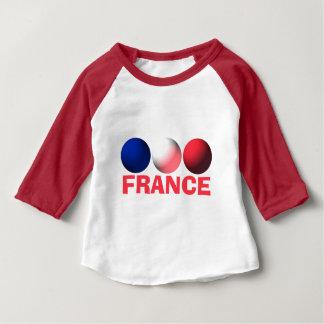 T-shirt Pour Bébé Sphères bleues, blanches et rouges de drapeau de