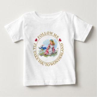 T-shirt Pour Bébé Suivez-moi - je vous porterai au pays des
