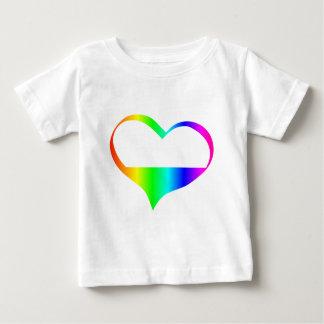 T-shirt Pour Bébé Symbole d'Asexuality d'arc-en-ciel