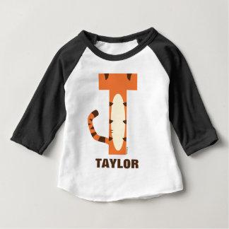 T-shirt Pour Bébé T est pour Tigger | ajoutent votre nom