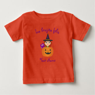 """T-shirt Pour Bébé """"T-shirt de Halloween de la sorcière heureuse"""""""