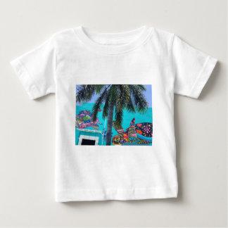T-shirt Pour Bébé Tortue tropicale, paradis de palmier