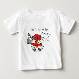 T-shirt Pour Bébé Tout que je veux pour Noël est brebis