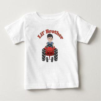 T-shirt Pour Bébé Tracteur de rouge de petit frère