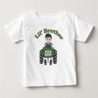 T-shirt Pour Bébé Tracteur de vert de petit frère