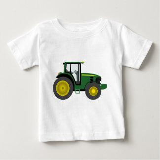 T-shirt Pour Bébé Tracteur vert