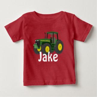 T-shirt Pour Bébé Tracteur vert personnalisé