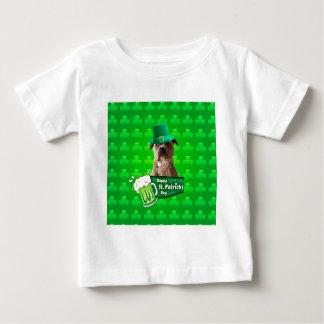 T-shirt Pour Bébé Trèfles du jour W de pitbull de chien de St