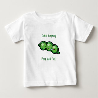 T-shirt Pour Bébé Trois pois de sommeil dans une cosse