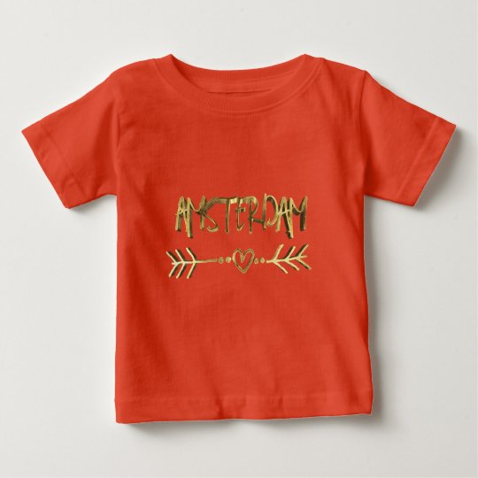 T-shirt Pour Bébé Typographie néerlandaise de regard d'or d'amour