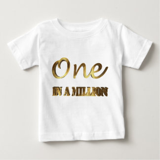 T-shirt Pour Bébé Un dans million de typographie élégante de Brown