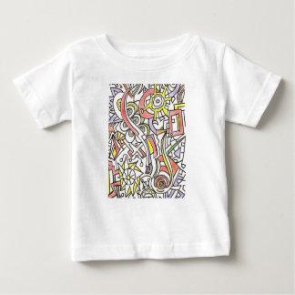 T-shirt Pour Bébé Un jour à l'art abstrait Plage-Lunatique