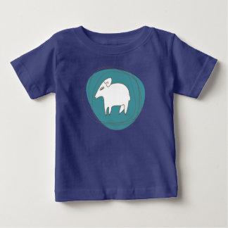 T-shirt Pour Bébé Un mouton dans les ovales