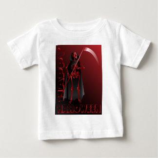 T-shirt Pour Bébé Un squelette avec une faux Halloween heureux 2