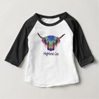 T-shirt Pour Bébé Une belle vache colorée, roucoulement