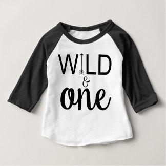 T-shirt Pour Bébé Une ?ère d'anniversaire de flèche de raglan