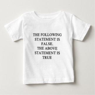 T-shirt Pour Bébé véritable proverbe faux de logique