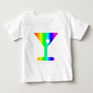 T-shirt Pour Bébé Verre de Martini d'arc-en-ciel