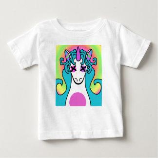 T-shirt Pour Bébé Version lumineuse de licorne d'arc-en-ciel de