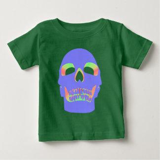 T-shirt Pour Bébé Visage de crâne - pastel pourpre