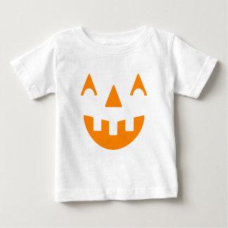 T-shirt Pour Bébé Visage heureux de citrouille de Halloween