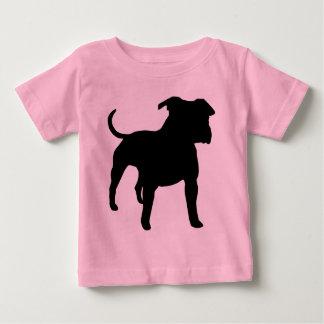 T-shirt Pour Bébé Vitesse du Staffordshire Terrier américain