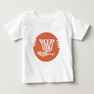 T-shirt Pour Bébé vodka et harengs de bière