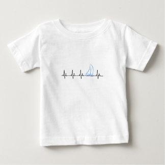 T-shirt Pour Bébé Voilier drôle de battement de coeur de navigation