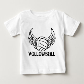 T-shirt Pour Bébé Volleyball avec des ailes