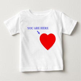 """T-shirt Pour Bébé """"VOUS ÊTES ICI"""" bébé pour le nourrisson militaire"""