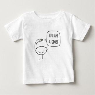 T-shirt Pour Bébé Vous êtes une oie