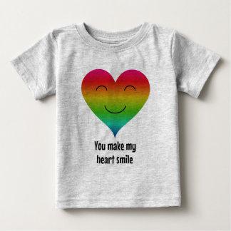 T-shirt Pour Bébé Vous faites mon arc-en-ciel de sourire de coeur