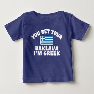 T-shirt Pour Bébé Vous vous pariez baklava que je suis grec