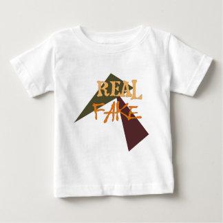 T-shirt Pour Bébé Vrai faux