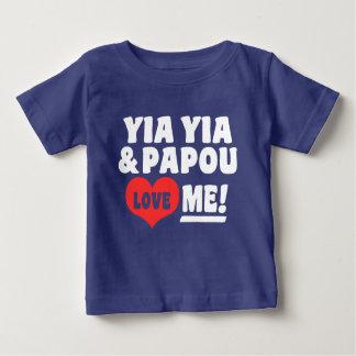 T-shirt Pour Bébé Yia Yia et Papou m'aiment