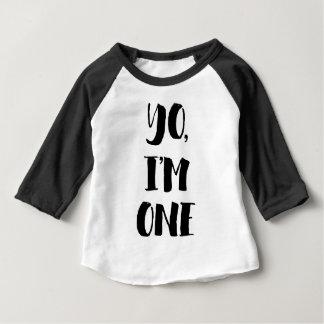 T-shirt Pour Bébé Yo, j'ai un ans
