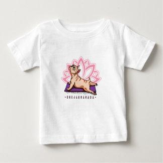 T-shirt Pour Bébé Yoga de bouledogue français - pose de Bhujangasana