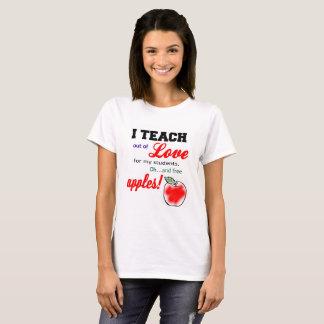 """T-shirt pour des professeurs… """"que j'enseigne hors"""