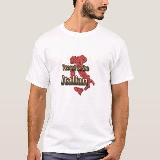 T-shirt Pour la fierté d'Italien des hommes