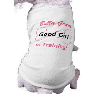 T-shirt pour le chien - bonne fille dans l'os de formation