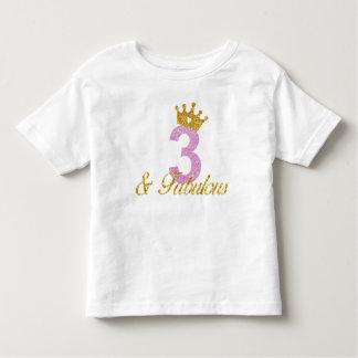 T-shirt Pour Les Tous Petits 3 et chemise fabuleuse d'anniversaire