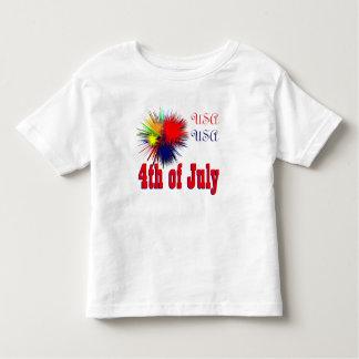 T-shirt Pour Les Tous Petits 4 juillet les Etats-Unis