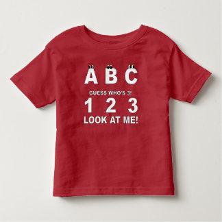 T-shirt Pour Les Tous Petits ABC regardent qui est la copie 3