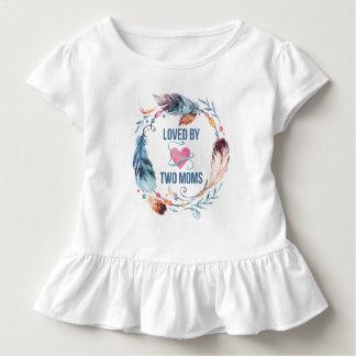 T-shirt Pour Les Tous Petits Aimé par la chemise de Bohème de ruche de deux