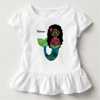 T-shirt Pour Les Tous Petits Aluminium personnalisé de Faux de sirène