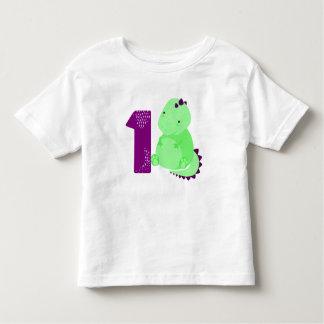 T-shirt Pour Les Tous Petits Anniversaire de dinosaure de bébé ęr