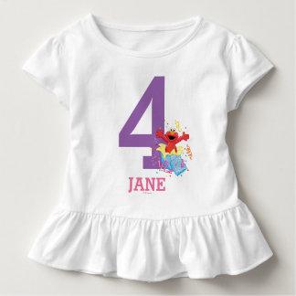 T-shirt Pour Les Tous Petits Anniversaire de la fille du Sesame Street | Elmo